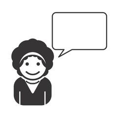 avatar portrait picture with caption bubble