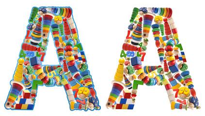 Wooden toys alphabet - letter A
