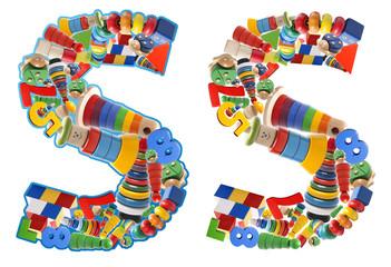 Wooden toys alphabet - letter S
