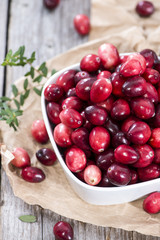 Heap of fresh Cranberries