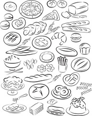 Vector illustration of bakery collection