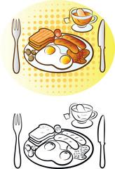 Vector illustration of english breakfast