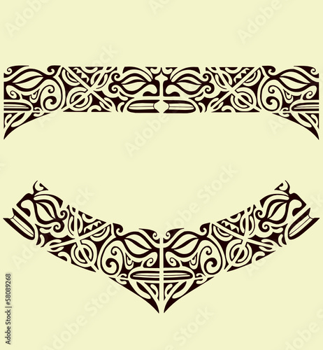 maori mask band tattoo stock image and royalty free vector files on pic 58089268. Black Bedroom Furniture Sets. Home Design Ideas
