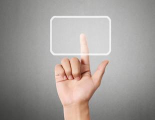 hand pressing  touchscreen button