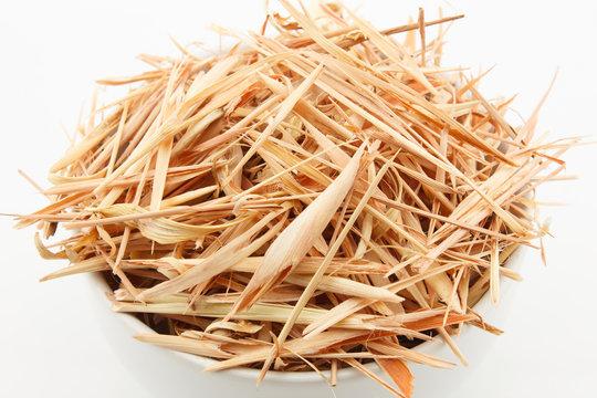 close up slice dried lemongrass