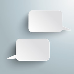 Two Rectangle Speech Bubbles PiAd