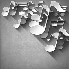 Music Note Background - White Velvet