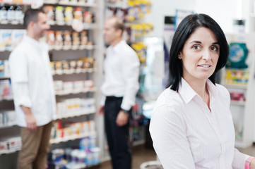 Customer in a pharmacy