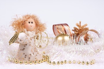 Christmas decorations, the composition of an Angel