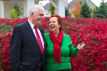 Happy and Health Senior Couple Enjoying Autumn