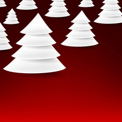 Set of paper christmas tree.