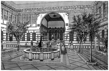 Interior House : Patio - Middle-East - 19th century