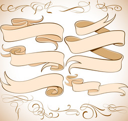 Vector Ribbons Set_1a
