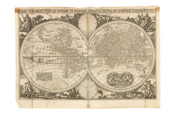 Antique Map - Old Dutch - World Map