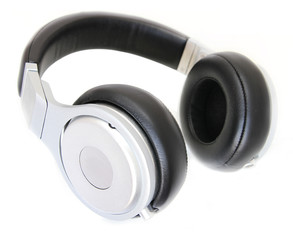 headphones isolated in white