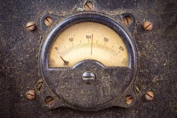 Vintage dusty round industry meter