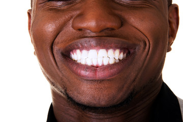Young male smiling. Closeup.