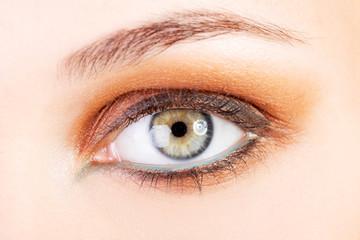 Female's open eye.