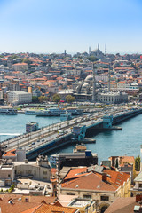 Istanbul panoramic view from Galata tower. Turkey