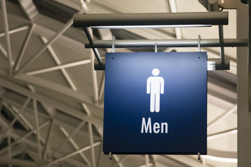 Men's Restroom Male Lavatory Sign Marker Public Building