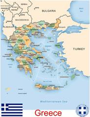 Greece Europe administrative divisions emblem map