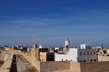 Mosque minaret at El-Jadida, Morocco