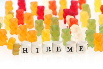 Gummy Bear series - seek for jobs (conceptual)
