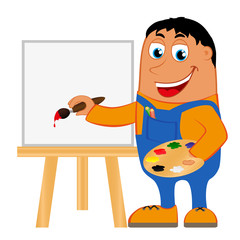 Artist on a white background, vector