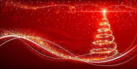 Wall Mural - Magic Christmas tree