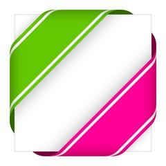 green and pink christmas corner ribbons