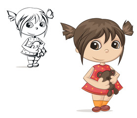 girl with teddy bear