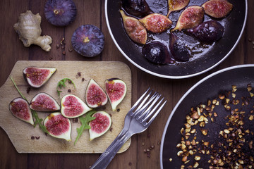 Figues fraîches et rôties, douceurs d'automne