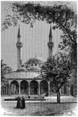 Islamic Architecture (Damas - Syria) - View 19th century