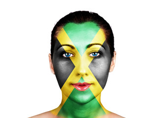 Face  with the Jamaica flag
