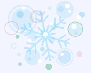 abstract christmas snow flake and balls
