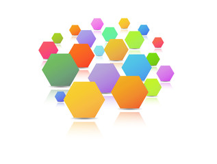 hexagons with different size