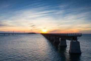 Sunset at the Seven Mile Bridge