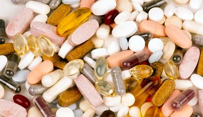 Vitamin Supplement Pills Capsules Pile Group Treatment Medicine