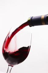 Red Burgundy Wine Drink Filling Stemmed Glass Alcohol Liquid