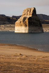 Rock Butte Formation Lake Powell Colorado River Utah USA