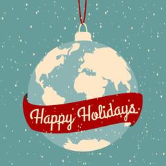 Fototapete - Christmas Greeting Card