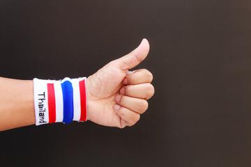 Man hand with wristband