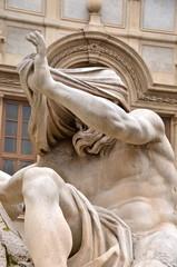 Nile statue Fontana dei Quattro Fiumi in Piazza Navona, Rome