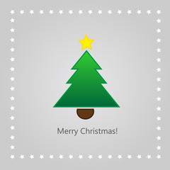 Christmas greeting card with xmas tree
