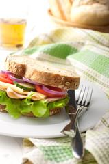 Turkey and Cheese Sandwich