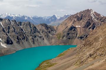 Wall Mural - Alpine turquoise lake Ala-Kul, Tien Shan mountains