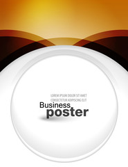 Stylish presentation and designer of business poster