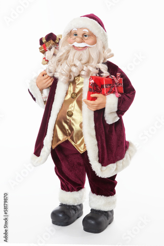 Wehnachtsmann Nikolaus Santa Mit Geschenken Stock Photo And Royalty