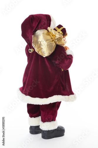 Weihnachtsmann Nikolaus Santa Mit Geschenken Von Hinten Stock Photo