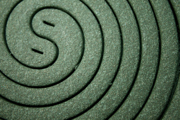 Closeup of a mosquito coil s pattern and texture
